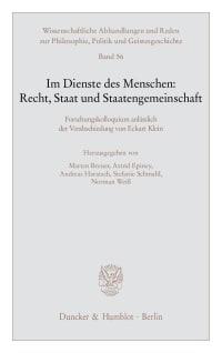 Cover Im Dienste des Menschen: Recht, Staat und Staatengemeinschaft