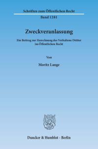 Cover Zweckveranlassung