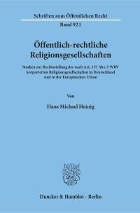 Cover Öffentlich-rechtliche Religionsgesellschaften