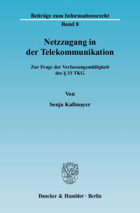 Cover Netzzugang in der Telekommunikation