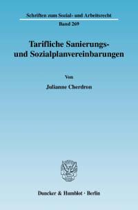 Cover Tarifliche Sanierungs- und Sozialplanvereinbarungen