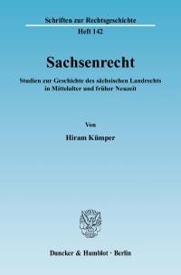 Cover Sachsenrecht
