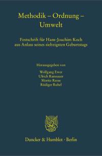 Cover Methodik – Ordnung – Umwelt