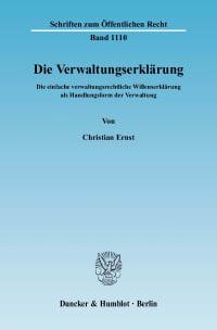 Cover Die Verwaltungserklärung