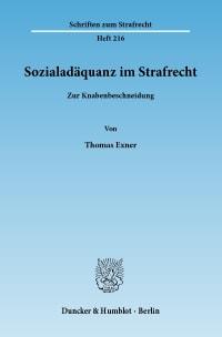 Cover Sozialadäquanz im Strafrecht