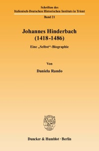 Cover Johannes Hinderbach (1418–1486)