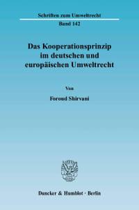 Cover Das Kooperationsprinzip im deutschen und europäischen Umweltrecht