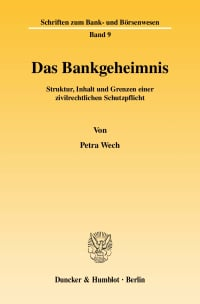 Cover Das Bankgeheimnis
