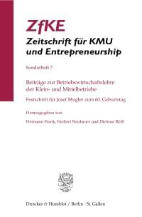 Cover Beiträge zur Betriebswirtschaftslehre der Klein- und Mittelbetriebe