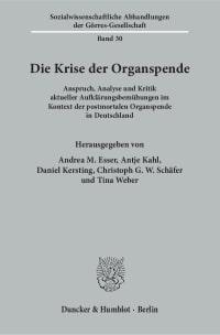 Cover Die Krise der Organspende