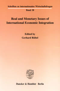 Cover Real and Monetary Issues of International Economic Integration