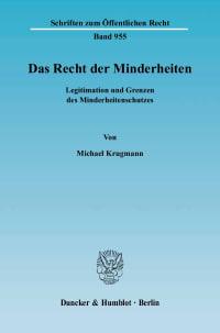 Cover Das Recht der Minderheiten