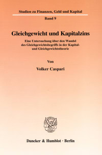 Cover Gleichgewicht und Kapitalzins