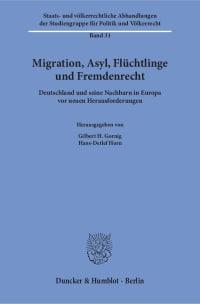 Cover Migration, Asyl, Flüchtlinge und Fremdenrecht