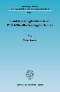 Cover Sanktionsmöglichkeiten im WTO-Streitbeilegungsverfahren