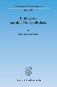 Cover Drittschutz aus dem Denkmalschutz