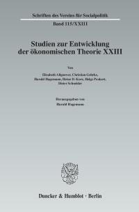 Cover Ökonomie und Technik