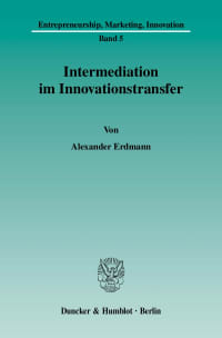 Cover Intermediation im Innovationstransfer