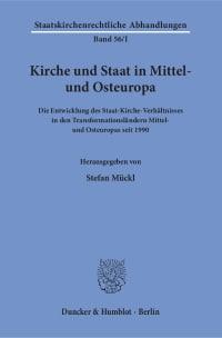 Cover Kirche und Staat in Mittel- und Osteuropa