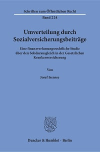 Cover Umverteilung durch Sozialversicherungsbeiträge