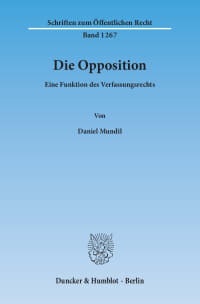 Cover Die Opposition