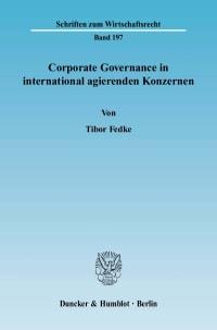 Cover Corporate Governance in international agierenden Konzernen