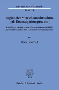 Cover Regionaler Menschenrechtsschutz als Emanzipationsprozess