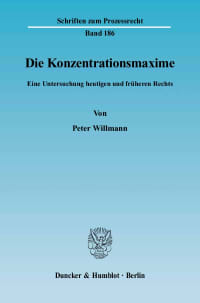 Cover Die Konzentrationsmaxime