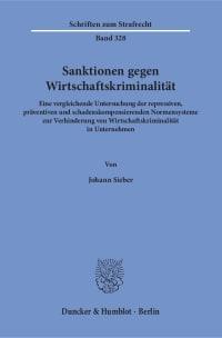 Cover Sanktionen gegen Wirtschaftskriminalität