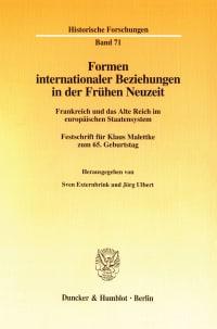 Cover Formen internationaler Beziehungen in der Frühen Neuzeit