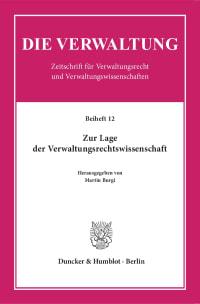 Cover Zur Lage der Verwaltungsrechtswissenschaft
