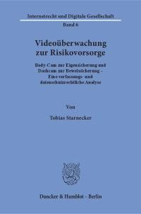Cover Videoüberwachung zur Risikovorsorge