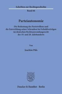 Cover Parteiautonomie