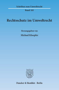 Cover Rechtsschutz im Umweltrecht