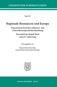 Cover Regionale Ressourcen und Europa