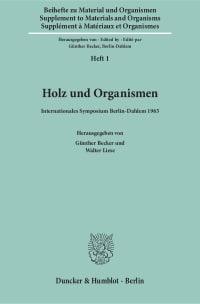 Cover Holz und Organismen