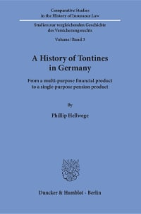 Cover A History of Tontines in Germany