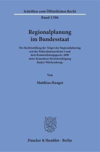 Cover Regionalplanung im Bundesstaat
