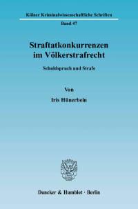Cover Straftatkonkurrenzen im Völkerstrafrecht