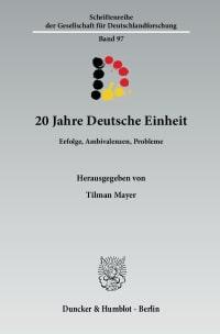 Cover 20 Jahre Deutsche Einheit