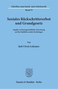 Cover Soziales Rückschrittsverbot und Grundgesetz