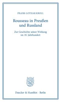 Cover Rousseau in Preußen und Russland