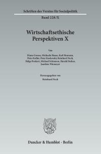 Cover Wirtschaftsethische Perspektiven X
