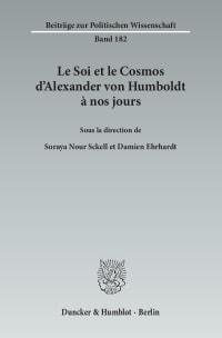 Cover Le Soi et le Cosmos d'Alexander von Humboldt à nos jours