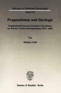 Cover Pragmatismus und Ideologie