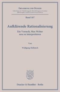 Cover Aufklärende Rationalisierung