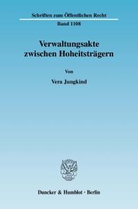 Cover Verwaltungsakte zwischen Hoheitsträgern