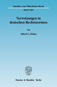 Cover Verweisungen in deutschen Rechtsnormen