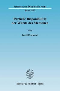 Cover Partielle Disponibilität der Würde des Menschen