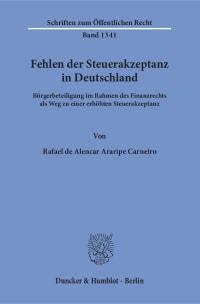 Cover Fehlen der Steuerakzeptanz in Deutschland